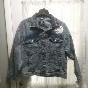 NWT Junior M, L  Denim Jacket Final Price *RunsBig